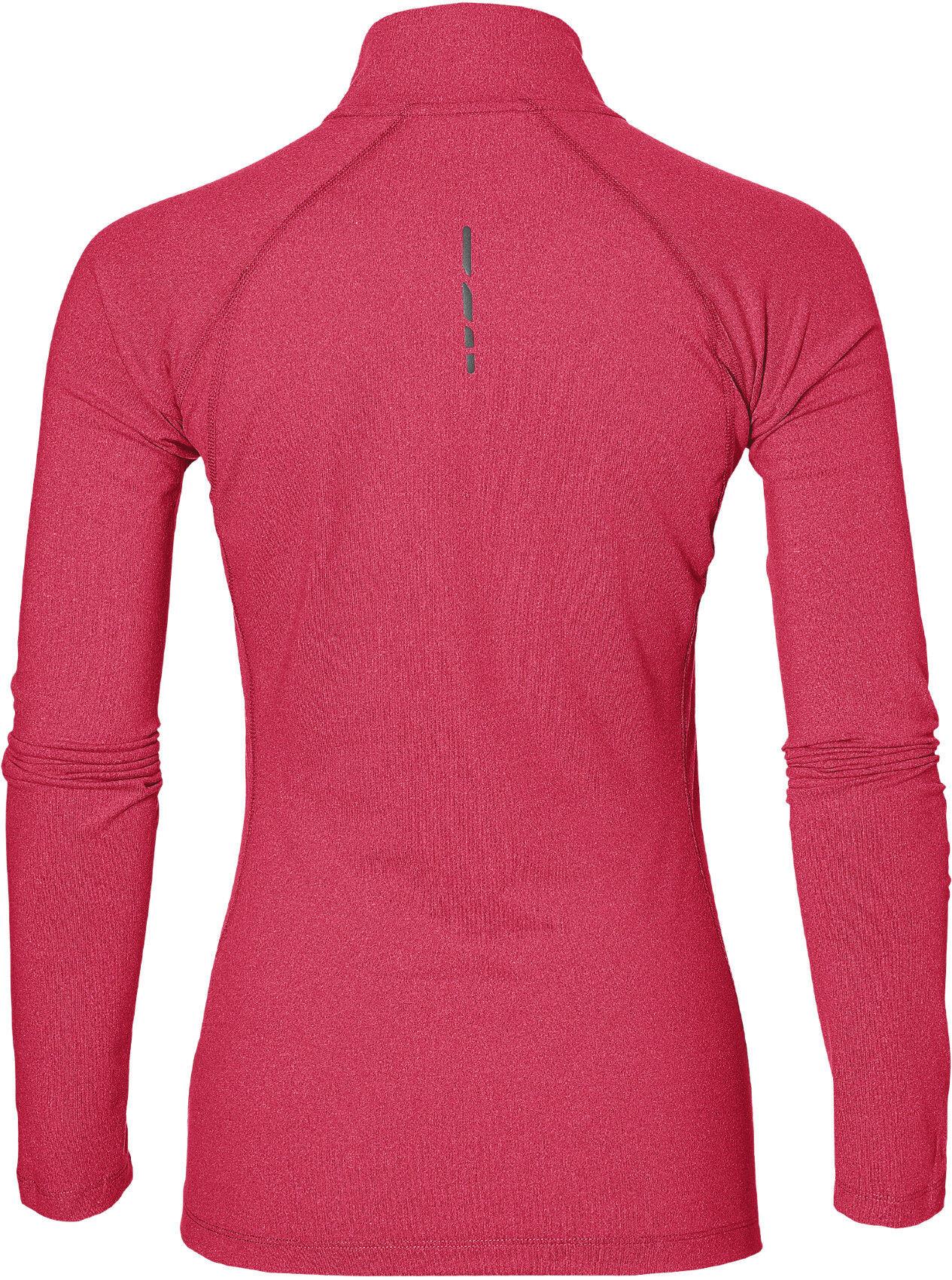 1a071285490 asics LS 1/2 Zip Jersey Hardloopshirt lange mouwen Dames rood l ...